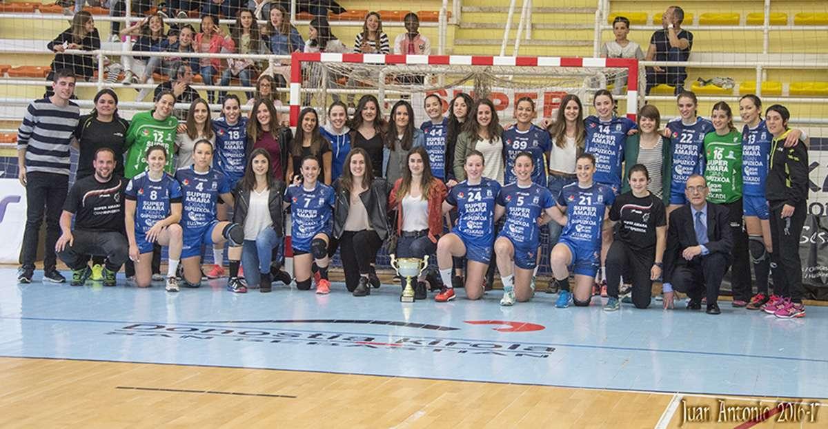 Bera Bera Urdina, campeonas de Copa Gipuzkoa juvenil